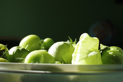 tomatillos and green tomatoes