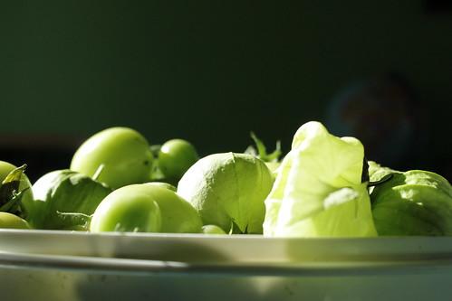 tomatillos and green tomatoes