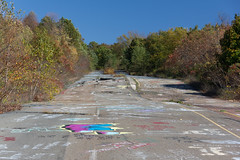 Abandoned Pennsylvania 61 (jeffs4653) Tags: usa grafitti unitedstates pennsylvania disaster centralia ghosttown coal ashland deserted anthracite minefire pa61 byrnsville destroyedhighway