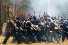 The Federal Advance (Rob Shenk) Tags: history virginia unitedstates union confederate civilwar potomac federal reenactment csa 1861 ballsbluff 150th loudouncounty