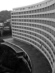 Capsis Hotel Ixia  Rhodes Balcony View B&W (Gilli8888) Tags: greece rhodes capsishotel hotels balcony curves ixia blackandwhite