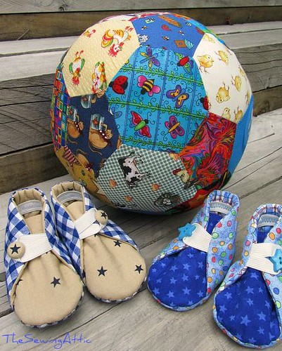 Just for kicks ball and baby boy shoes