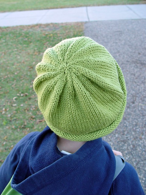 green knit hat, 2
