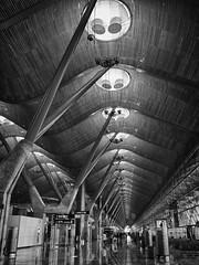 Madrid Terminal 4 (Rock Dr) Tags: madrid roof bw architecture spain terminal hdr terminal4 madridbarajasairport aeropuertointernacionaldemadridbarajas