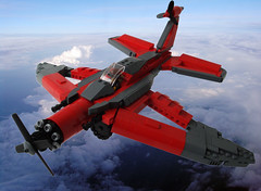 Crimson Skyfighter - Title (.Jake) Tags: red wings lego stripes negativespace crimsonskies skyfi skyfighter