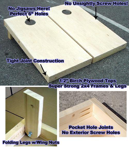 Plain Wood Cornhole Boards