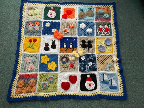 Thanks to everyone that has very kindly contributed Squares for this Blanket. 'Please add note' if you see your Square!