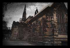 haunted (seve) Tags: building texture halloween church saint dark scary mood christ faith religion jesus gothic eerie structure christianity scratched textured oswald stoswalds sketched stevegregory 180550mm borderfx mygearandme applecrypt flickrstruereflection1 wwwflickrcomphotosapplecrypt