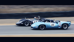 60's Showdown (autoidiodyssey) Tags: cinema car race vintage lola mclaren 1967 cinematic 1965 canam t70 mk3 m1a montereyhistorics usrrc 2011rolexmontereymotorsportsreunion