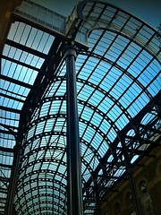 Engineering art (aistora) Tags: arch structure gallery roof maistora london england britain uk londonbridge hayslane haysgalleria morelondon architecture urban planning design space habitat offices retail catering life busy quality beautiful frames arches arcade galleria passage cover canopy rooflight skylight steel glass grid engineering art blue black phone mobile cellphone sonyericsson xperia x10 android picsay explore explored29oct11 blinkagain