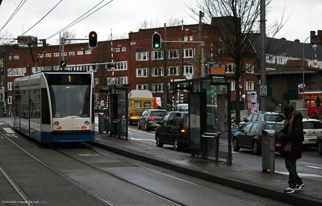 Tramway sur Overtoom