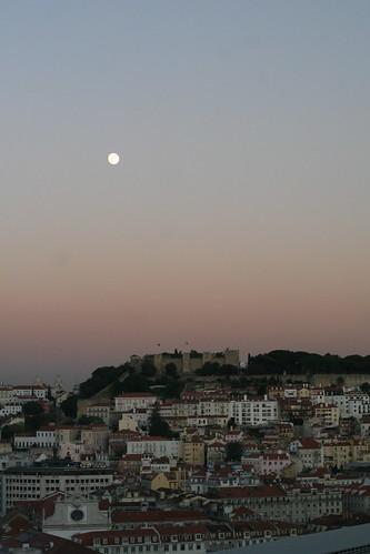 lisbon - moonrise