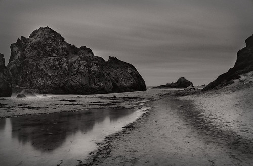 Pfeiffer Beach by Moonlight by Harold Davis