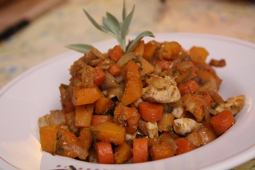 Fall Stew with Chicken, Butternut Squash, Pancetta, and Sage
