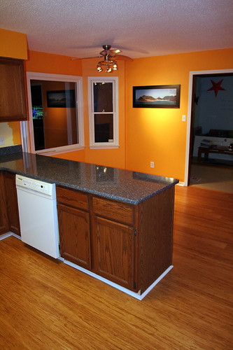 kitchen - from side entrance with new countertops