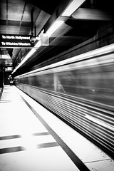 Passing by (Edwin_Abedi) Tags: california bw train losangeles metro socal hollywood