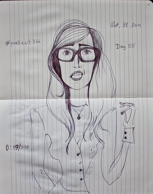 Day 05 | 'Girl with the Glasses'