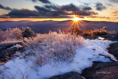 I Spy... (Brent McGuirt Photography) Tags: blue sunset snow mountains ice rock forest virginia three george washington ridge national spy priest wilderness rime ridges montebello