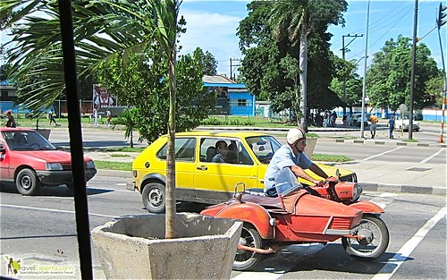 Motorcycle on Cuba Roads