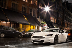 An Autumn Evening. (Alex Penfold) Tags: auto street camera white london cars alex sports wet car rain sport mobile night canon dark photography eos photo cool flickr shot nightshot martin image awesome flash picture super spot mount exotic photograph gloss spotted hyper epp mayfair supercar aston spotting exotica sportscar sportscars supercars dbs penfold spotter 2011 hypercar 60d lj60 hypercars alexpenfold lj60epp