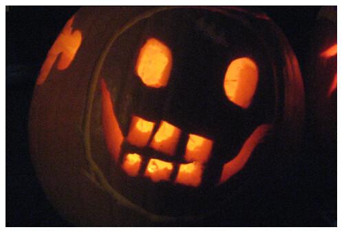 Matthew's jack o'lantern