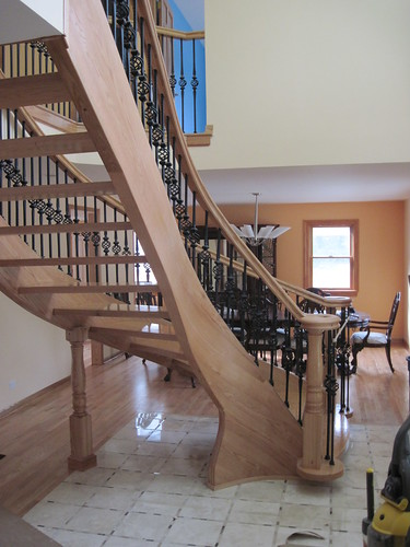 Curved Stairs With Open Riser