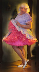 Lavendar & Pink (Rikki2012) Tags: square dance sissy crossdresser crossdress petticoat crinoline petticoated