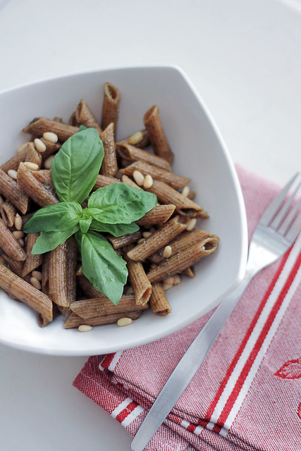 Basil, Pineuts and Pesto Wholegrain Pasta