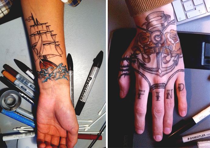 Diy Fake Tattoo By Tim Kiukas Trashion Helsinki
