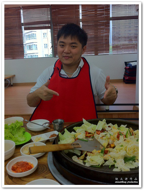 saimatkong chef with Dak-Galbi (닭갈비) @ Uncle Jang Korean Restaurant