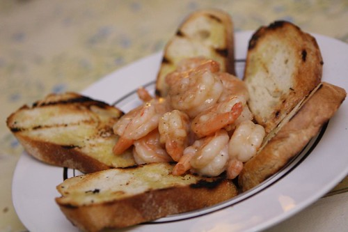 Coconut Curry Shrimp with Grilled Baguette