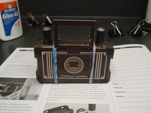 finished pinhole camera