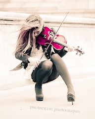 The girl with the pink Violin (photocillin) Tags: girl play violin bond violinist elspeth hanson