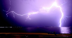 Raw (pominoz) Tags: lake storm belmont nsw lakemacquarie lighning