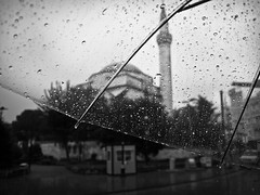 through my umbrella // sultanahmet, istanbul (pamela ross) Tags: rain pen umbrella turkey olympus istanbul mosque ep1 istanbullovers