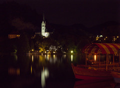 Bled Church at Night (Banalama) Tags: longexposure travel church night slovenia bled nocturne bledchurch