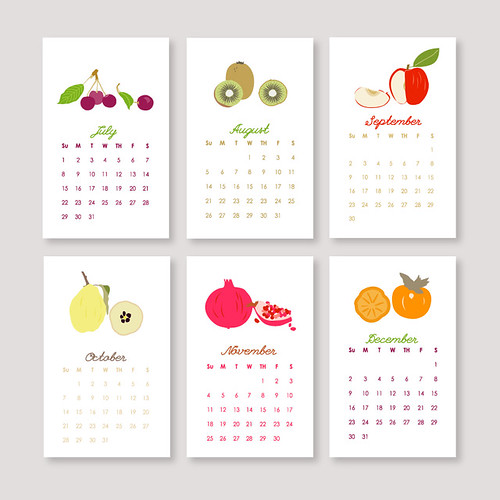 Le Papier Studio calendar