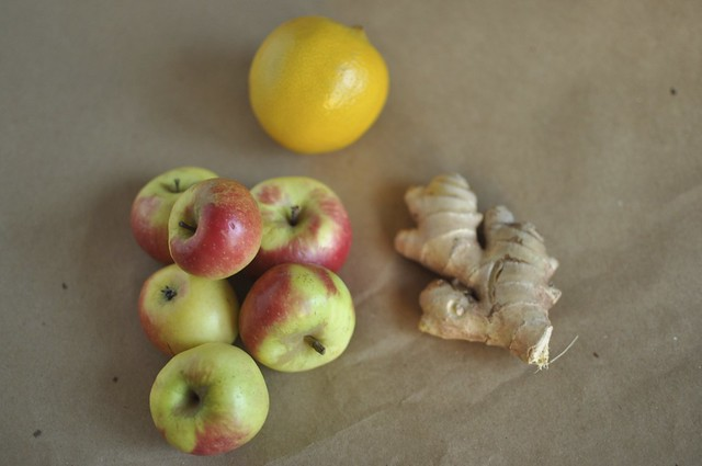 apples, lemon and ginger