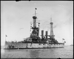 USS New Jersey with last of the 26th Division aboard (Boston Public Library) Tags: worldwari soldiers 1919 ussnewjersey usnavy lesliejones