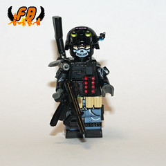 Private Military Contractor single view (Brick Mercenaries Custom Minifigures) Tags: army lego bap prototype proto minifigure protos brickarms brickforge privatemilitarycontractor customminifigure minifigcat tinytactical