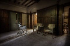 Admin ::   (explore) (andre govia.) Tags: door flowers building abandoned wheel buildings hospital dead chair closed lift chairs decay room andre explore derelict admin zimma govia