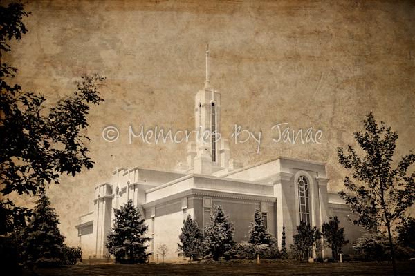 Mt. Timpanogos Vintage LDS Temple Prints -