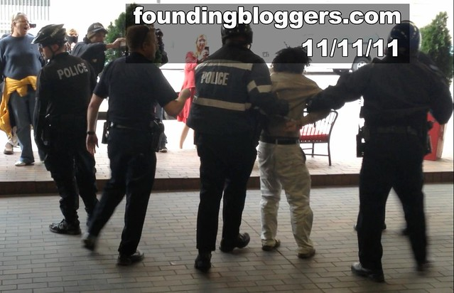 #OCCUPYDENVER THUG STORMS CONSERVATIVE MEETING