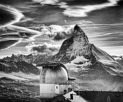 The Matterhorn (Stuck in Customs) Tags: world travel sky blackandwhite white mountain black cold building monochrome strange architecture clouds digital silver photography switzerland blackwhite blog high europe suisse dynamic stuck hiking july peak science hike photoblog software processing western stunning imaging zermatt matterhorn geology facility range hdr tutorial canton trey ch travelblog customs basecamp dieschweiz mountainous 2011 ratcliff visp confoederatiohelvetica mattertal hdrtutorial stuckincustoms swissconfederation treyratcliff photographyblog stuckincustomscom nikond3x