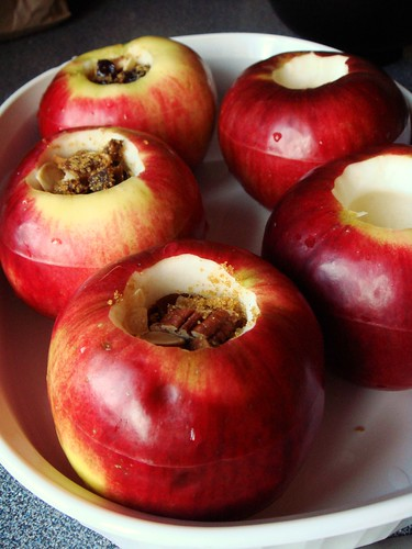 Maple Baked Apples with Dried Fruit & Nuts
