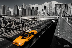 Leavin' Manhattan (bgspix) Tags: city nyc bridge blackandwhite ny newyork skyline brooklyn night canon us interesting cityscape skyscrapers noiretblanc manhattan bynight taxis brooklynbridge manhattanbridge eastriver newyorkskyline pont uga cabs ville 1022 noirblanc selectivecolorization uwa gratteciel canonefs1022mmf3545usm yellowcabs newyorkbridges nybynight tonemapped canon60d taxijaune eos60d taxisjaunes benjamings manhattandenuit bgsphotography bgspix