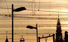amsterdam (wojofoto) Tags: amsterdam lines golden skyline kerktoren straatlampen wojofoto stadsarchief spoor wolfgangjosten