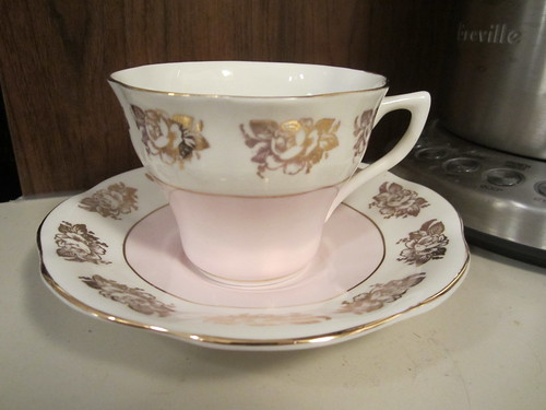 Vintage cup and saucer, from England