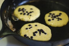 Buttermilk Corn Cakes with Blueberries