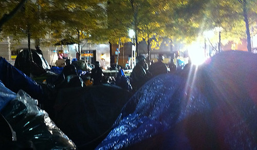 Occupy Wall Street was raided in the early morning hours of Tuesday, November 15, 2011 by New York police. The City said that Zuccotti Park must be cleared for sanitary reasons. by Pan-African News Wire File Photos